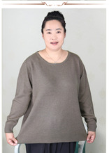 plus size women clothing 5XL 6XL7XL 8XL 9XL Large size middle aged clothes mother cashmere sweater knitted shirt sleeve