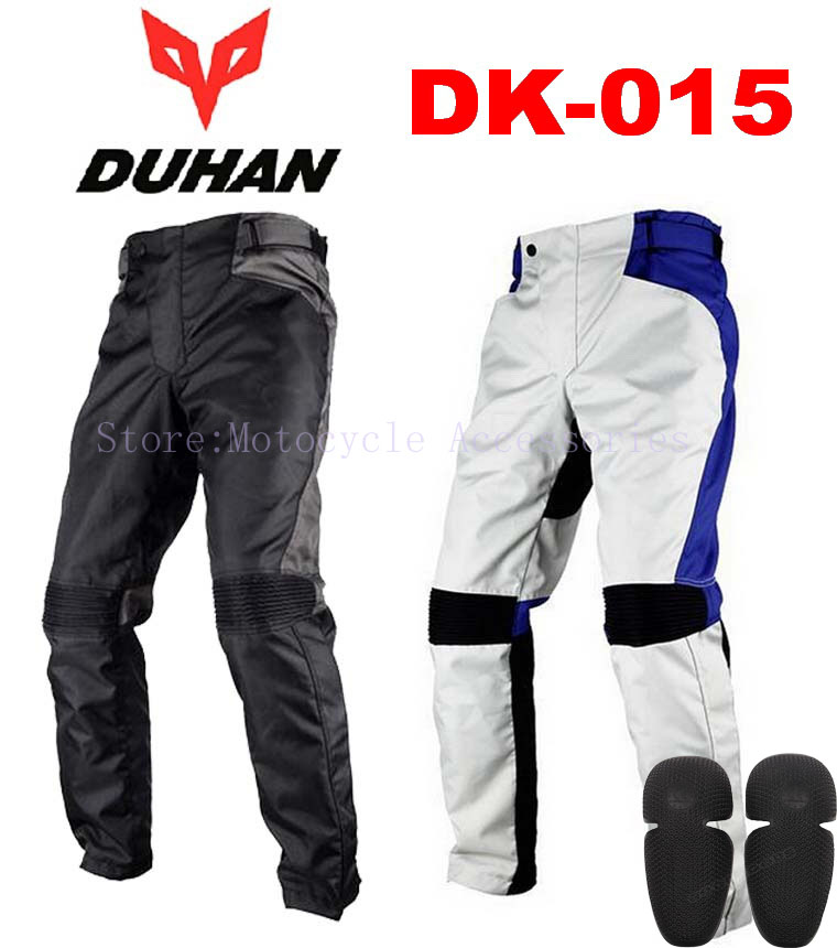 motorcycle pants with CE motocross trousers DUHAN DK-015 Oxford Off-road Racing Pants MOTO equipment scoyco professional motorcycle dirt bike mtb dh mx riding trousers motocross off road racing hip pads pants breathable clothing