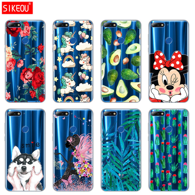official photos c92c9 43ca3 US $1.51 24% OFF|case for huawei Y7 2018 case Cover for Huawei Y7 Prime  2018 case soft tpu sillicone Coque full 360 back cover cute funny-in Fitted  ...