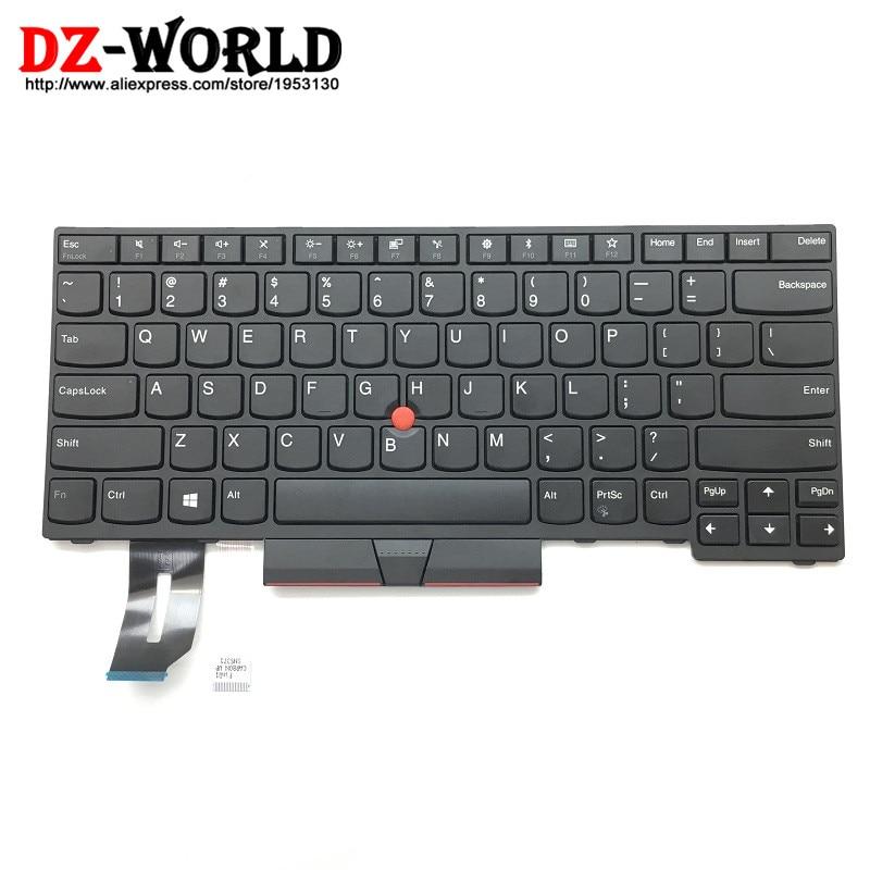 New Original for Lenovo Thinkpad T480S E480 L480 L380 L380 Yoga Keyboard US English Teclado 01YP320 01YP240 01YP480 01YP400 new original for thinkpad t480s e480 l380 l380 yoga backlit keyboard us english backlight 01yn420 sn20p34962 01yn340 01yp360