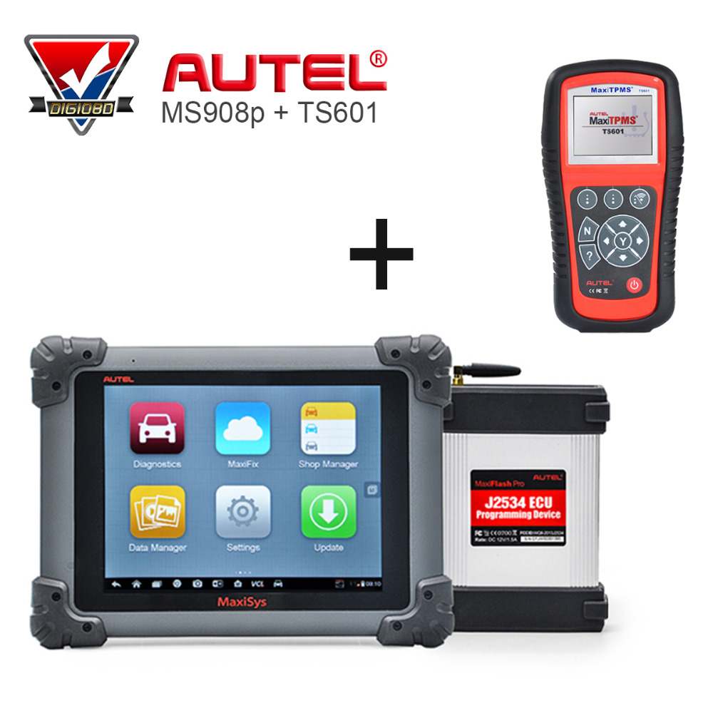 AUTEL MaxiSys Pro MS908P Automotive Diagnostic & ECU Programming System with J2534 reprogramming box with TS601 Tool