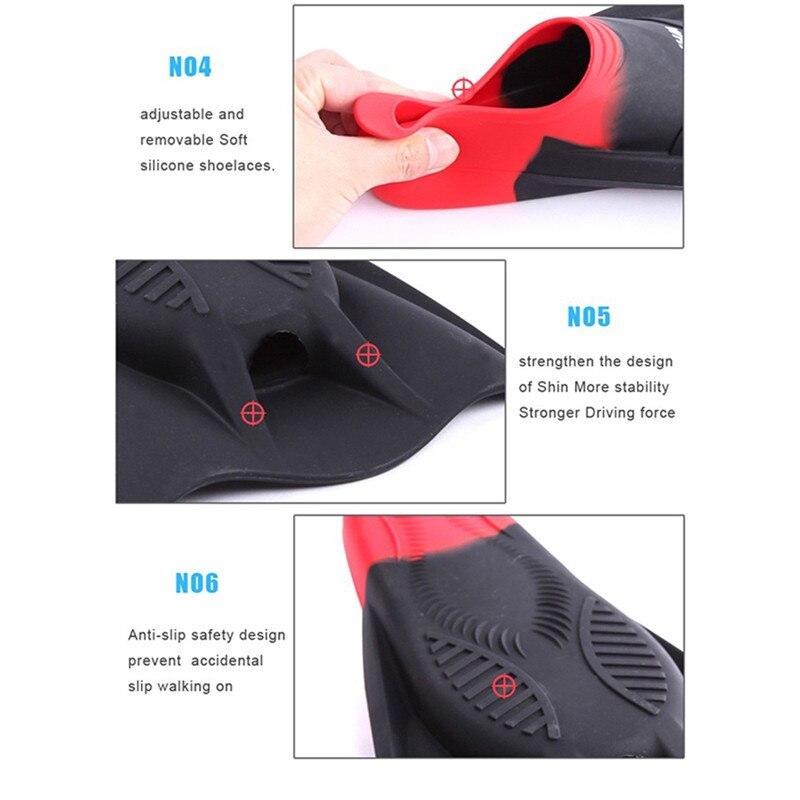 Baleine Natation Palmes de Plongée En Apnée Palmes Adulte Snorkeling Natation Palmes Trek pour Professional Diver Grenouille Chaussures Silicone - 4