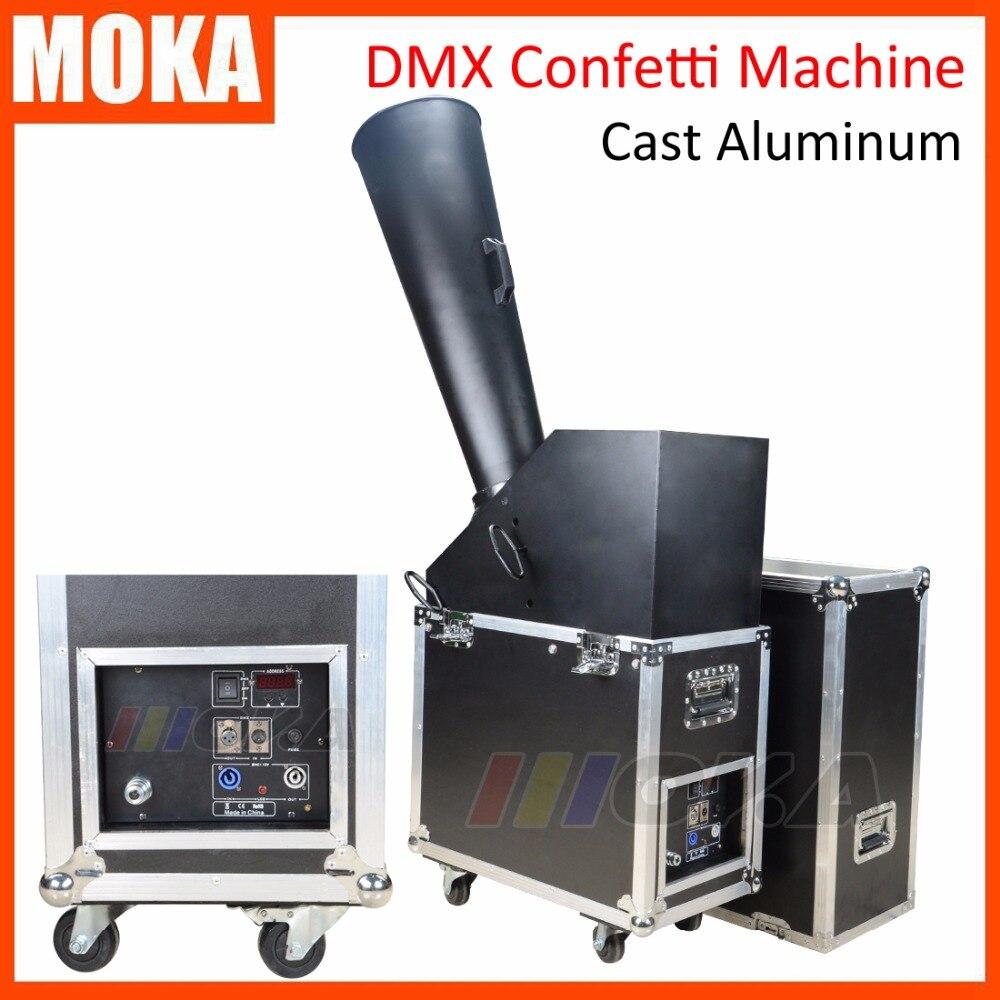 ༼ ộ_ộ ༽<b>1</b> шт./лот супер DMX конфетти машина из литого ...