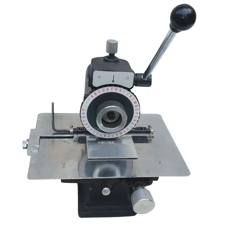 Manual Nameplate Marking Machine manual semi-automatic pressure plate smashing card embossing machine tool plotter automatic metal nameplate marking machine