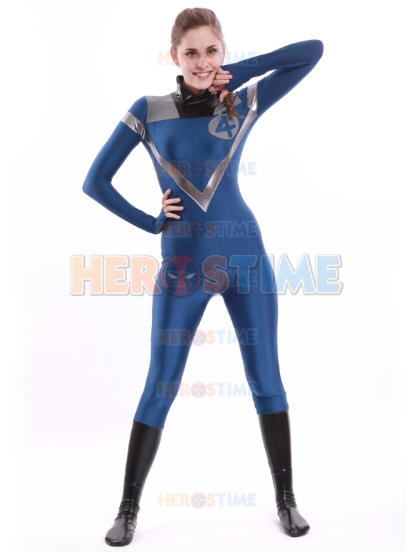Buy fantastic four costume blue and black - Femme invisible 4 fantastiques ...