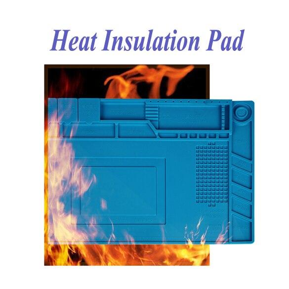 Image 2 - Heat resistant Soldering Mat Silicone Heat Gun BGA Soldering Station Insulation Pad Repair Tools Maintenance Platform Desk Mat