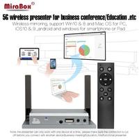 Wyświetlacz VGA HDMI WiFi MiraBox Dla iOS Android Windows 10 Mac OS Miracast DLNA Airplay Wyświetlacz VGA HDMI WiFi Z Kontrolerem IR