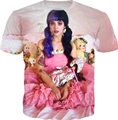 Melanie Martinez T-Shirt Women Men 3D harajuku t shirt Digital printing Cry baby tee Summer Style Fashion Clothing t shirt tops