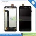 Para a Mosca IQ4512 Display LCD + Montagem Digitador Da Tela de Toque de Alta Qualidade Preto Cor 1 Pc/lote Frete Grátis + rastreamento número