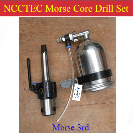 Morse 3rd core drill set for NCCTEC MD32 Magnetic Drill | including water pipe, water-tap, stainless steel liquid tank and rod 35mm ncctec core drill magnetic base drills nmd35c 1 4 14kg net weight 1200w
