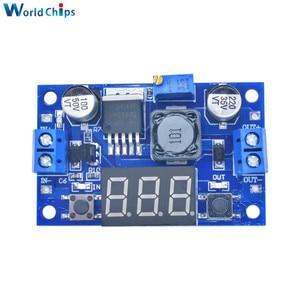 Image 5 - LM2596 DC Buck abaisseur Module de convertisseur de puissance cc/DC 4.0 ~ 40V à 1.25 37V 2A régulateur de tension réglable avec voltmètre LED