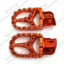 3af63258355d1 Billet CNC Pé Pegs Pedais Repousa Para KTM SX EXC SXF XC XCW EXCF EXCW XCFW  MX SEIS DIAS 65 85 125 250-530 MX Enduro