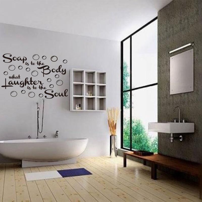US $10.69 |DIY Seife zu die körper mit Blasen Vinyl Wand aufkleber  Abnehmbare Wandbild Decals Tapete Für Badezimmer dusche room Home Decor  DD0729-in ...