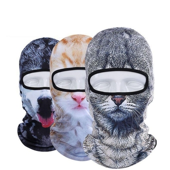 Funny 3D Mask Animal Face Mask Hat Hood Bicycle Warm Neck Face Cap Winter Motorcycle Helmet Cap For Unisex Mouth-muffle Mask winter bicycle windproof motorcycle wind stopper face mask hat neck helmet cap thermal fleece balaclava hat for men