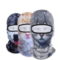 Funny Cat 3D Mask Hat Outdoor Hat Hood Bicycle Warm Neck Face Cap Winter Motorcycle Helmet Cap For Unisex