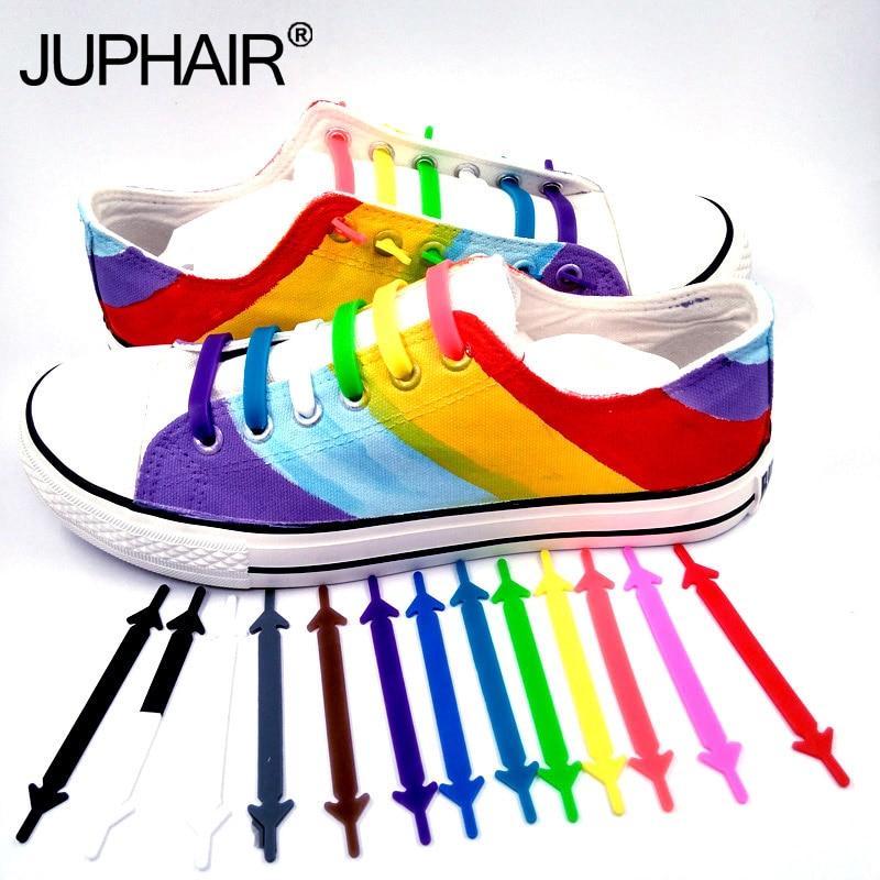 JUP 1 Bag /16 Roots Lazy Shoelaces Laces Shoelaces Buckle Flat Square Head Bracelet Canvas Leisure Sports Shoes Silicone Elastic