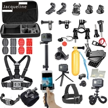 JACQUELINE for Accessories Kit Three Way Selfie w/Phone Lock Bracket Clip for Gopro hero 5 4 3+SJCAM SJ6000/Xiaomi yi/EKEN H9R