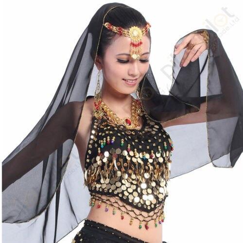 098c7a8847a7 € 8.0 |Tela de gasa nueva moda Sexy indio Choli Top sujetador danza del  vientre disfraz colorido campanas lentejuelas vestido de mujer en Danza del  ...