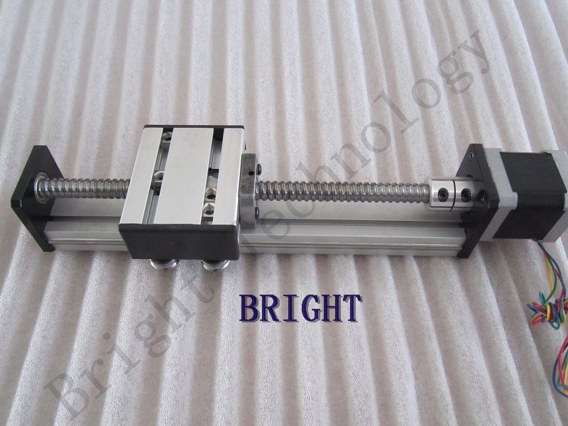 Ballscrew 1610 700mm Travel Length Linear Guide Rail CNC Stage Linear Motion Moulde Linear + 57 Nema 23 Stepper Motor SG belt driven guided linear actuator any travel length linear motion motorized linear stage heavy duty belt driven stage