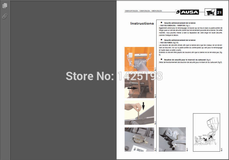 AUSA Forklift Spare Parts Catalog and Service Manual bd falcon catalog