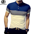 Plus Size 5XL New Summer Polo Homme Fashion Striped Slim Fit POLO Men Shirt  Short-sleeve Camisa Polo Mens Clothing MT529