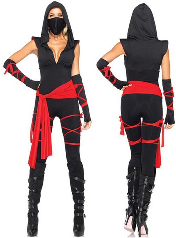 Alta calidad mujeres anime masked ninja warrior disfraces de halloween masquerade fancy dress traje de cosplay