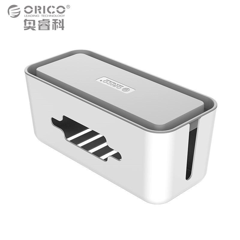 imágenes para ORICO CMB-18 ABS a prueba de fuego de almacenamiento devanadera del cable para toma de corriente gerente regleta organizador caja de la caja con soporte para teléfono