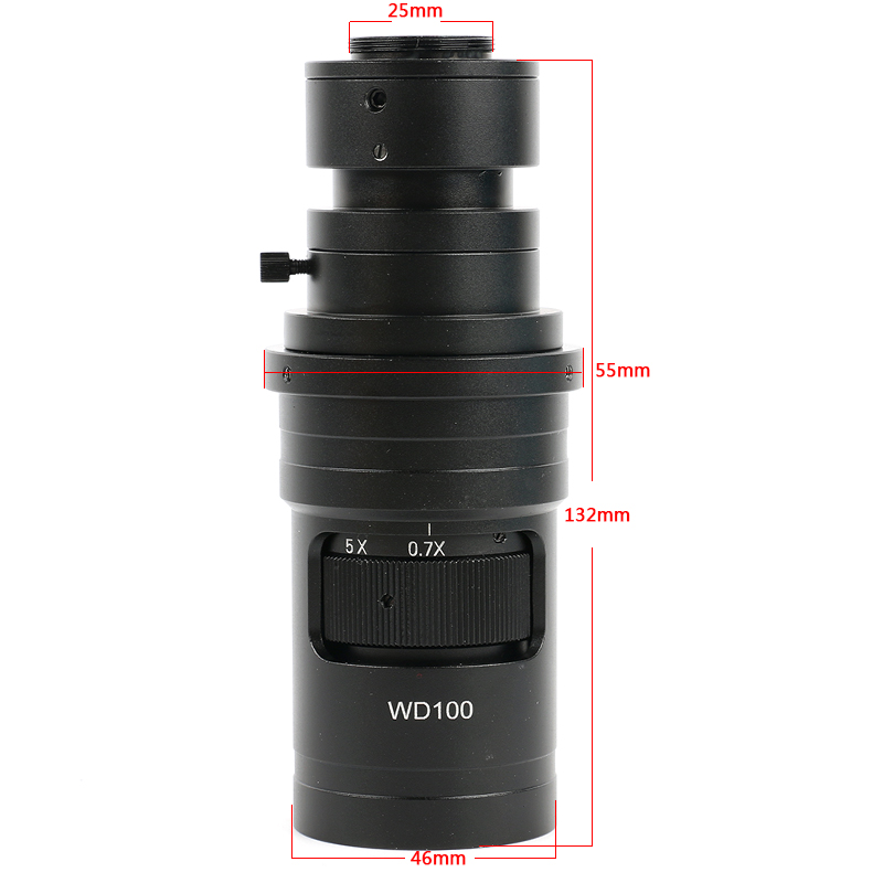 10X 200X Zoom WD100 Continuously Variable 0 7X 5X Adjustable Magnification FHD C mount Lens For