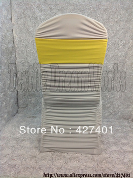 Hot Sale Yellow Spandex Bands / Lycra Band / Expand Bands /spandex chair sash/Chair cover sash For Wedding & Banquet