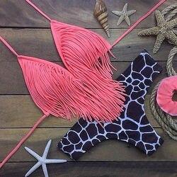 Hirigin 2019, сексуальный комплект бикини с оборками, купальник для женщин, пуш-ап, мягкий бандаж, стринги, бикини, купальник для женщин, купальник,... 2