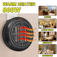 Electric Air Warm Heater Fan Blower Electric Rotate Plug 900W Air Heater Radiator Electric Heater for Home Heating Office