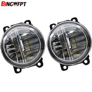 Image 5 - 2pcs/Left + Right High bright white LED Fog Lights For Citroen DS3 DS4 DS5 2010 2015 Fog Lamp Assembly H11 12V