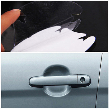 4 sztuk/zestaw uniwersalny klamka do drzwi samochodowych odporny na zarysowania Rhino skóry folia ochronna, przeciwporostowe, akcesoria samochodowe naklejki dekoracyjne