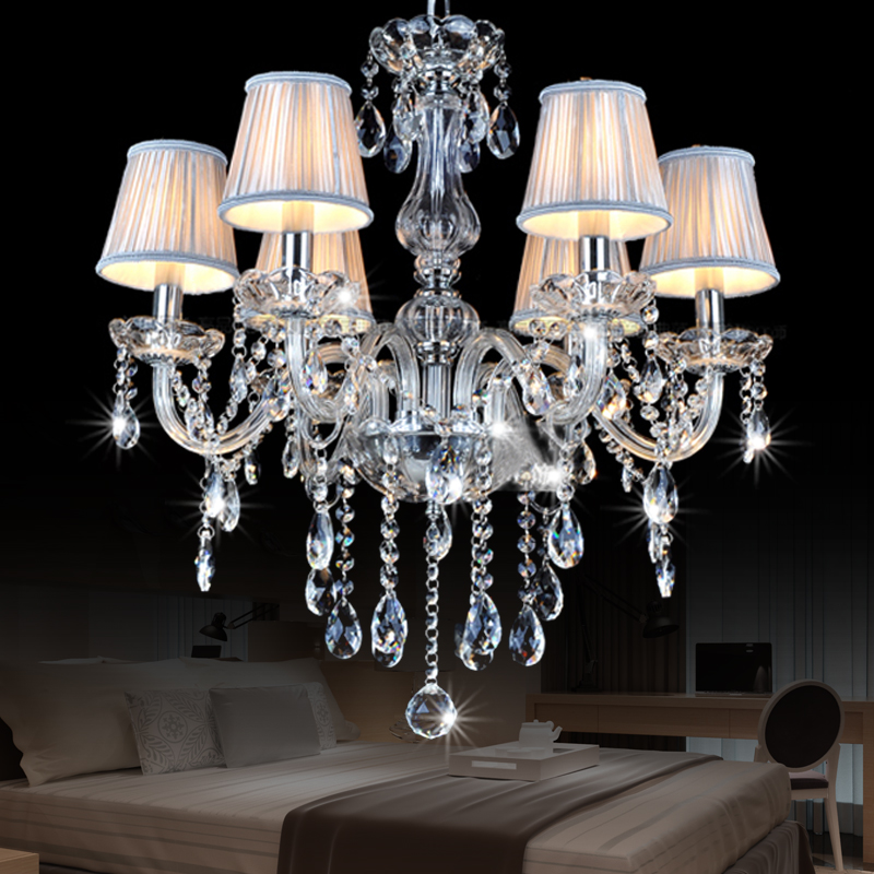 New European Led candlestick crystal chandelier for living room lustre de cristal modernos wedding dinner ceiling chandelier