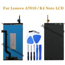 """5.5 """"עבור Lenovo A7010 LCD תצוגה + מסך מגע Digitizer החלפת רכיב עבור LENOVO K4 הערה LCD מסך תיקון אבזרים"""