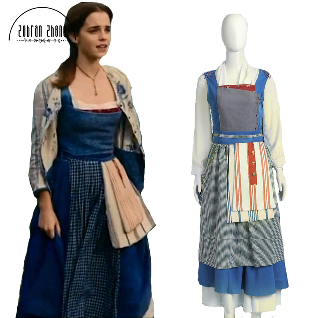 beauty and the beast belle costume dress for adult belle halloween costumes village outfit library cosplay
