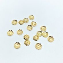 500pcs / lot 7mm 9MM silver plated petal petals DIY base beads hat jewelry beads cup jewelry production