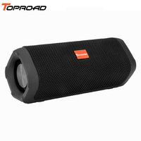 TOPROAD Stereo Wireless Bluetooth Speaker Waterproof Fabric Portable Music Speakers Sound Box Audio Boom Box with Mic Hands free