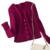 Mujeres chaqueta de cachemira 2017 partysu contraste nuevo otoño invierno ropa de abrigo de manga larga suéter delgado del o-cuello suéteres cortos