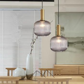Gray Glass Pendant Lighting Kitchen Island Pendant Light ...