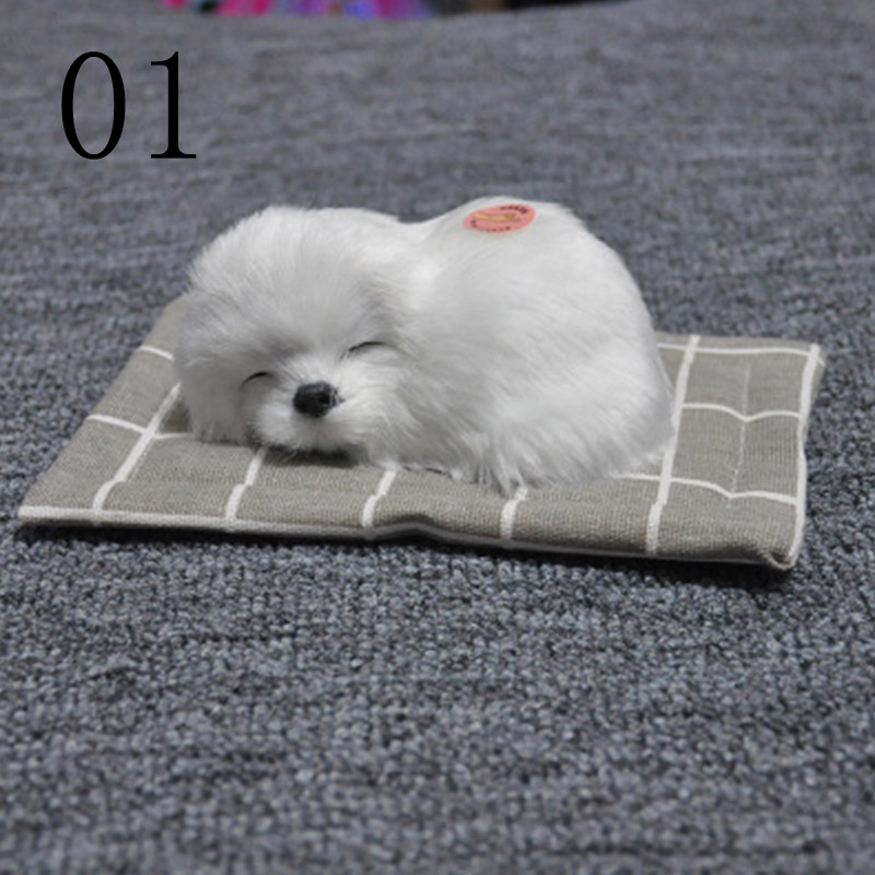 New Creative Toy Dog Simulation of Animal Plush Toy Sleeping Dog Sound Toy Cloth Pad Sleeping Dog Toy Car Ornaments Novelty Gift