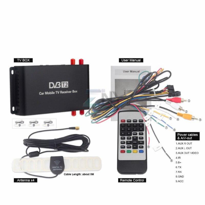 Carplay Car DVB T2 DVB T MPEG4 Digital TV Box 4 Seg Support 180 200KM/H Speed Driving Digital Car TV Tuner HD 1080P TV Receiver