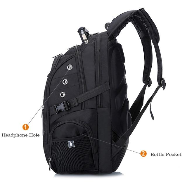 MAGIC UNION 17 Inch Laptop Backpack Men USB Charging Waterproof Oxford Large Travel Backpack Women Rucksack School Bag mochila 2
