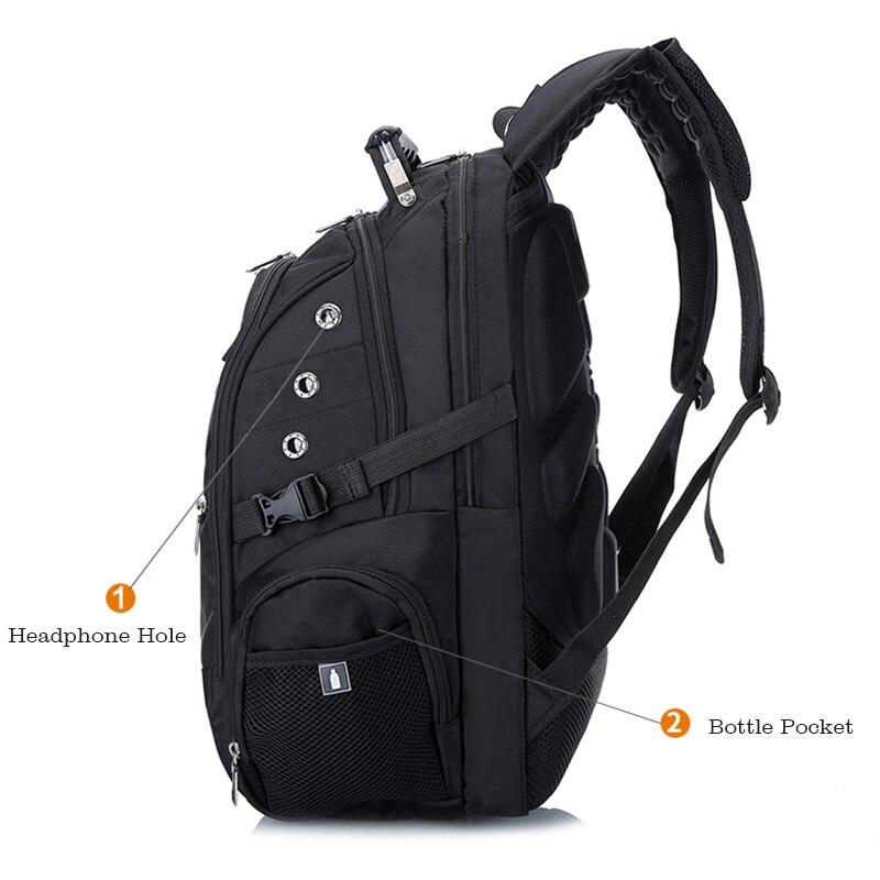 MAGIC UNION 17 pouces sac à dos pour ordinateur portable hommes USB charge imperméable Oxford grand voyage sac à dos femmes sac à dos cartable mochila - 3