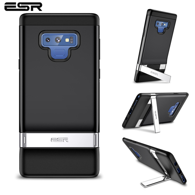 low priced c4693 021fe ESR Business Phone Case for Samsung Galaxy Note 9 with Metal Kickstand  Shockproof TPU Cover Case for Samsung Note 9 Capas Coque