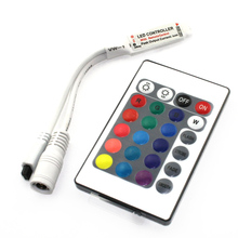 B1 RGB LED Controller DC12V Mini 24Key IR Remote Controller For 3528 5050 RGB LED Strip.