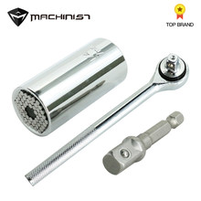 Magic Spanner Grip Multi Function Universal Ratchet Socket 7-19mm Power Drill Adapter Car Hand Tools Repair Kit Ratchet wrench(China)