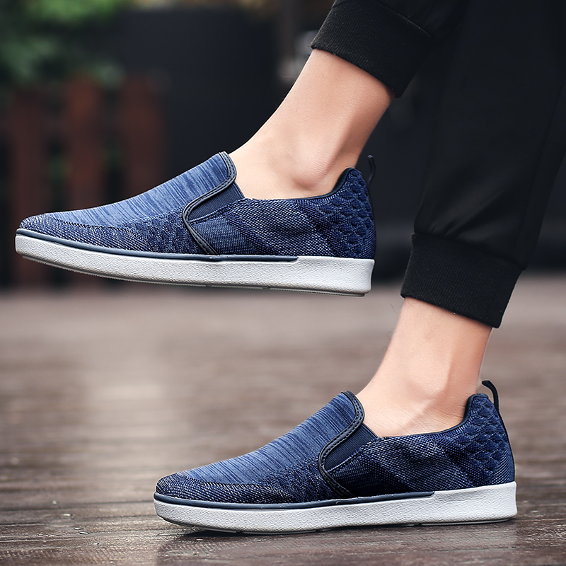CYYTL Performance Men's Loafers Soft Flyknit Slip-On Walking Shoes Spring Casual Male Sneakers Zapatos de Hombre Erkek Ayakkabi (26) -
