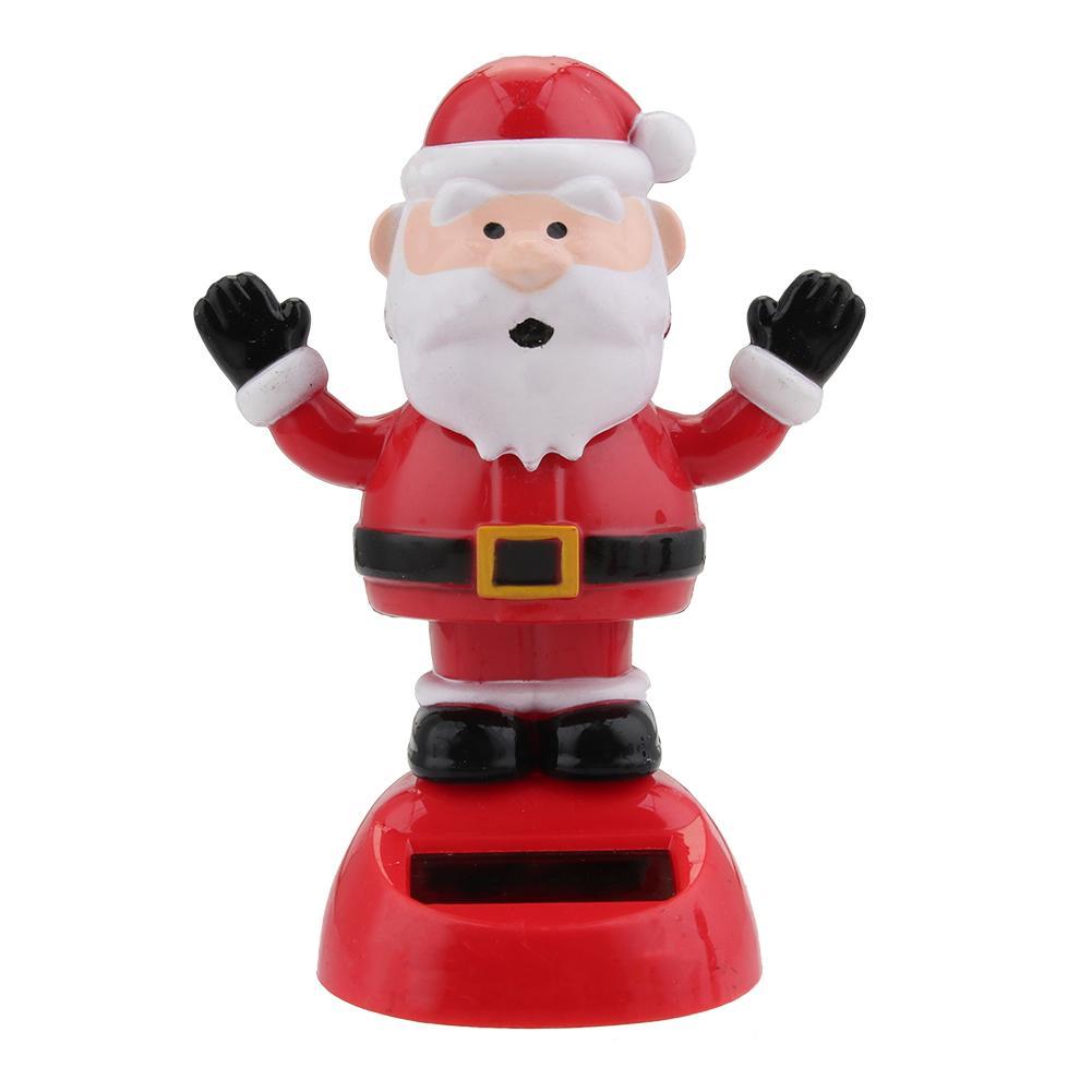 Восхитительная новинка, игрушки на солнечных батареях, движущиеся, рождественские, Санта Клаус, танцующая панда, домашний стол, декор для автомобиля, рождественские игрушки, подарки для детей - Цвет: D