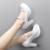 Sapatos de couro genuíno das mulheres bombas dos saltos altos preto feminino sapatos de plataforma branca bombas sy-2106